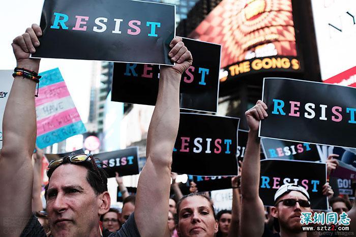 五名军人挑战特朗普宣布的美军跨性别禁令
