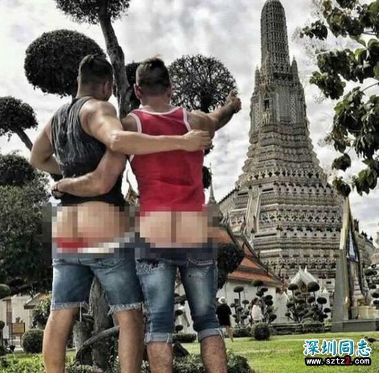 美国同性恋游客 在泰国露臀拍照被拘留面临5年监禁